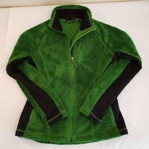 Marmot Womens Full Zip Green Polartec Fleece Small